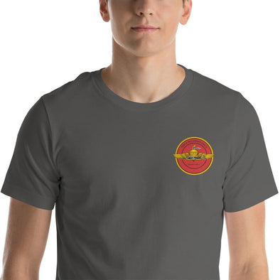 United States Marine Corps (USMC) Force Recon Embroidered Short-Sleeve Unisex T-Shirt - Asphalt / S