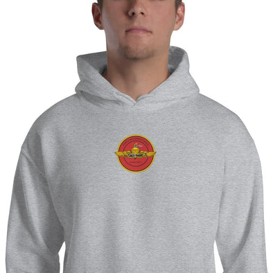 United States Marine Corps (USMC) Force Recon Embroidered Unisex Hoodie - Sport Grey / S