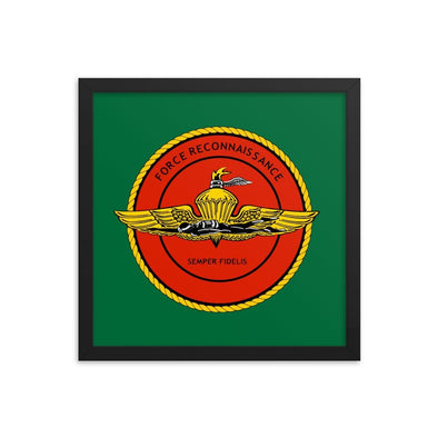 United States Marine Corps (USMC) Force Recon Framed poster - 14×14