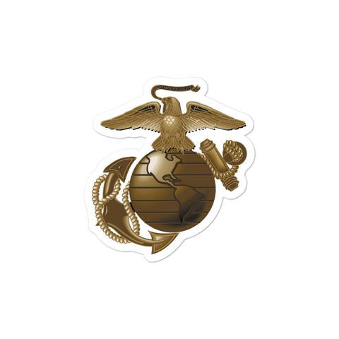 United States Marine Corps (USMC) Globe and Eagle Bubble-free stickers - 3x3