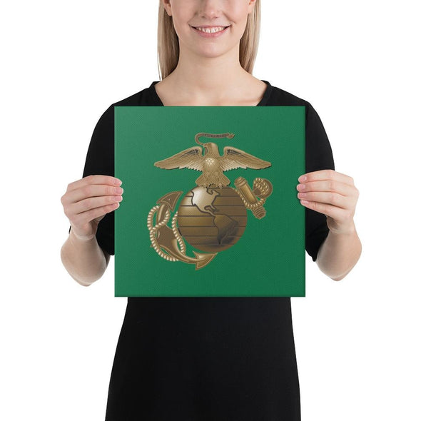 United States Marine Corps (USMC) Globe and Eagle Canvas - 12×12