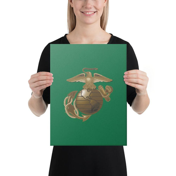 United States Marine Corps (USMC) Globe and Eagle Canvas - 12×16