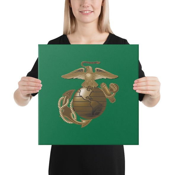 United States Marine Corps (USMC) Globe and Eagle Canvas - 16×16