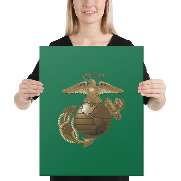 United States Marine Corps (USMC) Globe and Eagle Canvas - 16×20