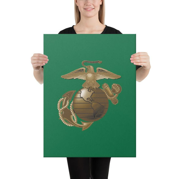 United States Marine Corps (USMC) Globe and Eagle Canvas - 18×24