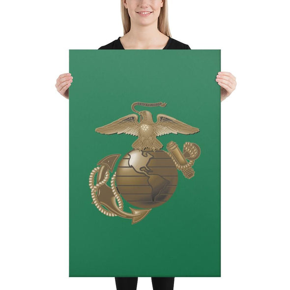 United States Marine Corps (USMC) Globe and Eagle Canvas - 24×36