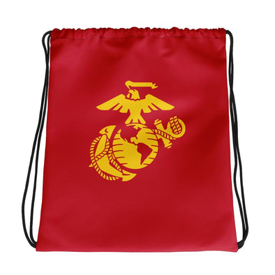 United States Marine Corps (USMC) Globe and Eagle Drawstring bag