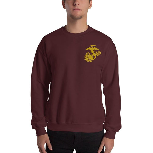 United States Marine Corps (USMC) Globe and Eagle Embroidered Unisex Sweatshirt