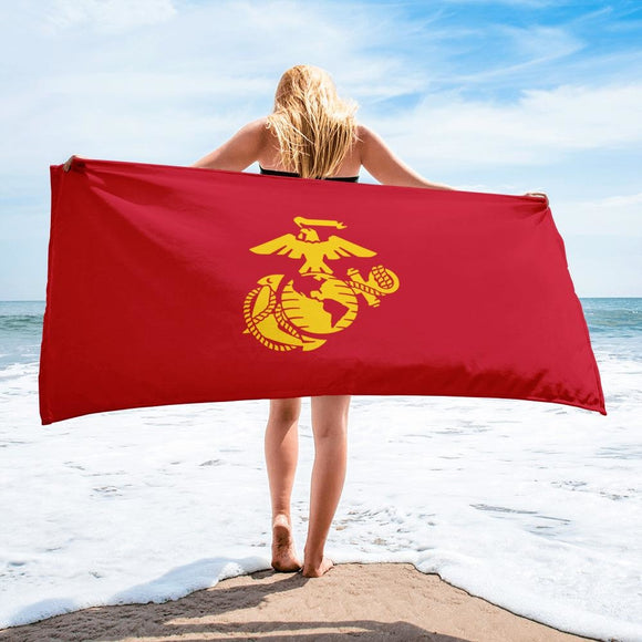 United States Marine Corps (USMC) Globe and Eagle Towel