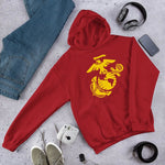 United States Marine Corps (USMC) Globe and Eagle Unisex Hoodie - Red / S