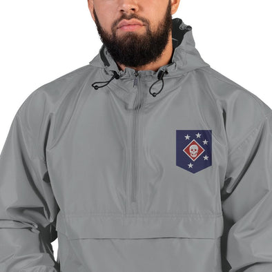 United States Marine Corps (USMC) Marine Raider Embroidered Champion Packable Jacket - Graphite / S