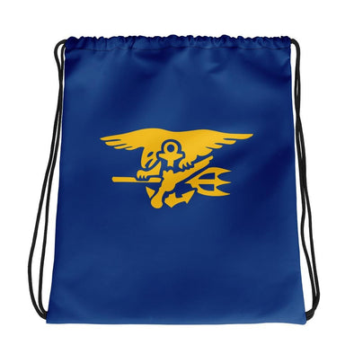 United States Navy SEAL Trident Drawstring bag
