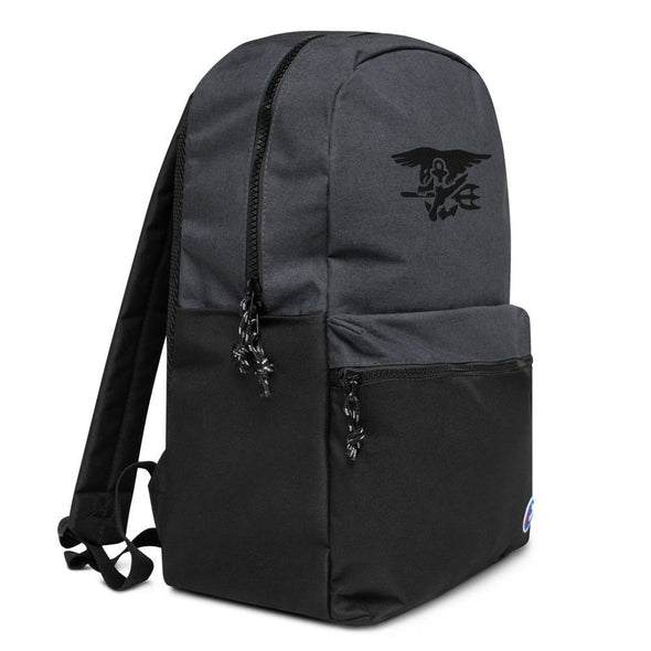 United States Navy SEAL Trident Embroidered Champion Backpack