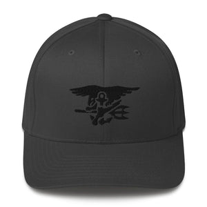 opszillastore,United States Navy SEAL Trident Embroidered Structured Twill Cap,