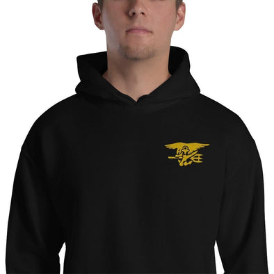 United States Navy SEAL Trident Embroidered Unisex Hoodie - Black / S