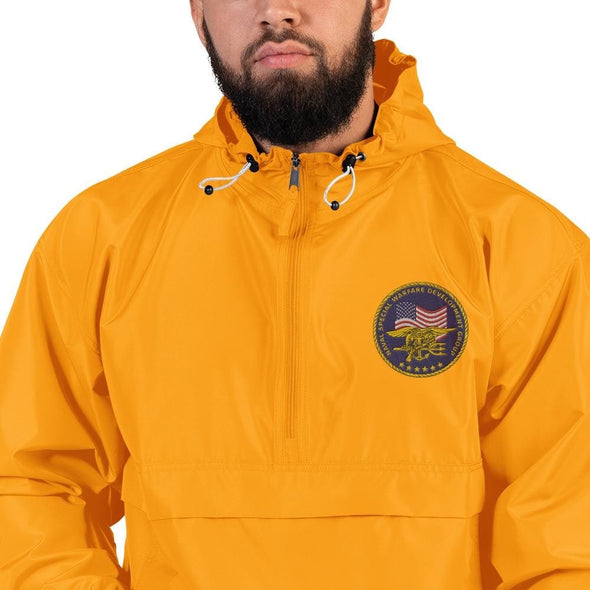 United States Navy Special Warfare Development Group (DEVGRU) Embroidered Champion Packable Jacket - Gold / S