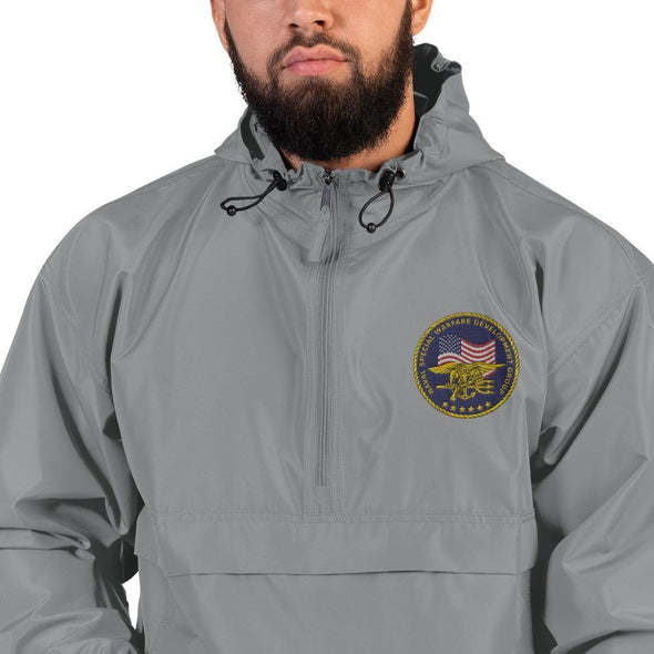 United States Navy Special Warfare Development Group (DEVGRU) Embroidered Champion Packable Jacket - Graphite / S