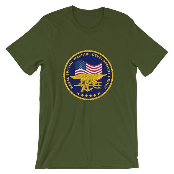 United States Navy Special Warfare Development Group (DEVGRU) Short-Sleeve Unisex T-Shirt - Olive / S
