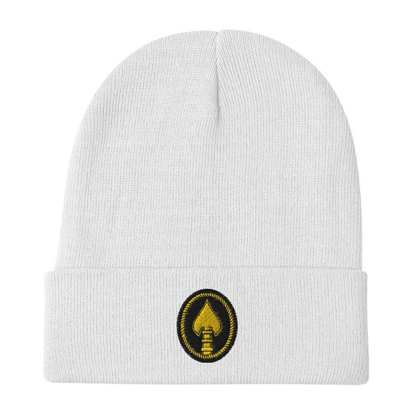United States Special Operations Command Embroidered Beanie - White