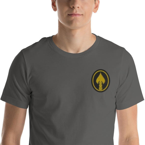 United States Special Operations Command Embroidered Short-Sleeve Unisex T-Shirt - Asphalt / S