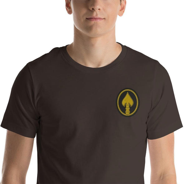 United States Special Operations Command Embroidered Short-Sleeve Unisex T-Shirt - Brown / S