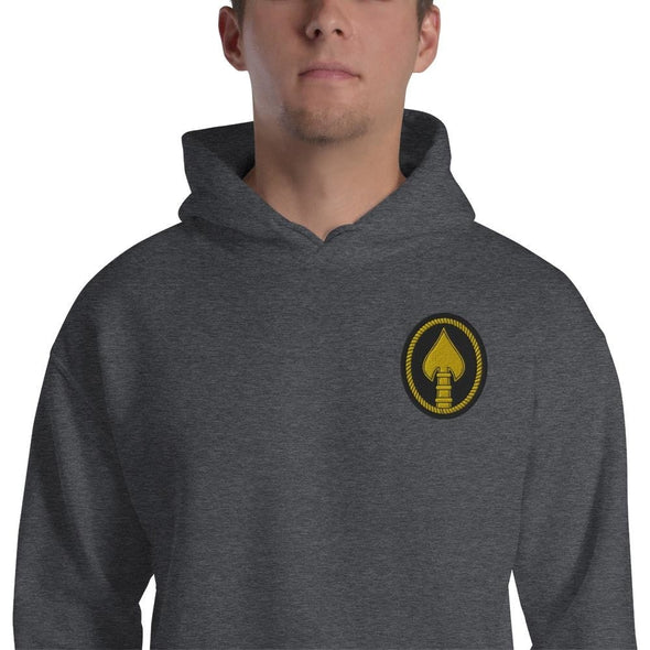 United States Special Operations Command Embroidered Unisex Hoodie - Dark Heather / S