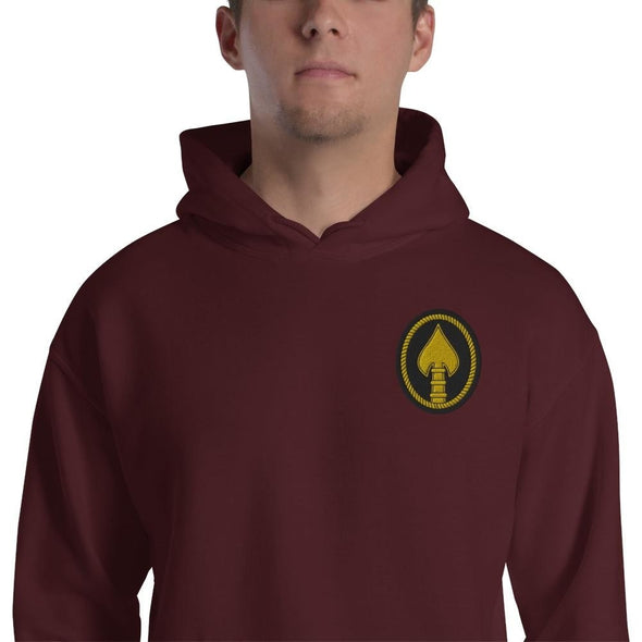 United States Special Operations Command Embroidered Unisex Hoodie - Maroon / S