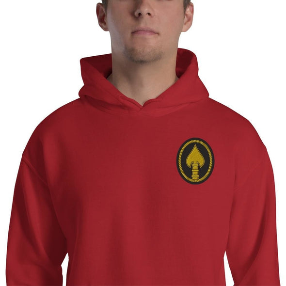 United States Special Operations Command Embroidered Unisex Hoodie - Red / S