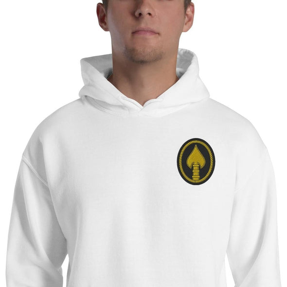 United States Special Operations Command Embroidered Unisex Hoodie - White / S