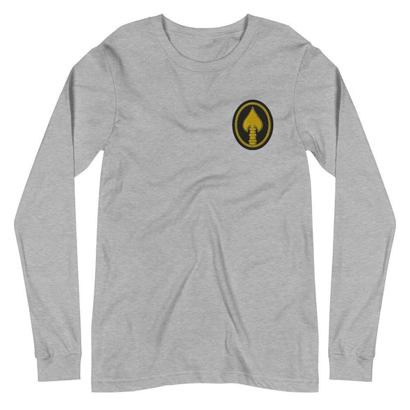 United States Special Operations Command Embroidered Unisex Long Sleeve Tee - Athletic Heather / XS