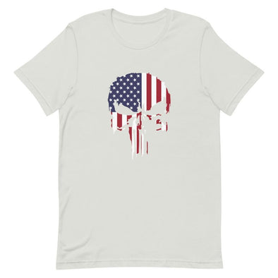 USA Punisher Short-Sleeve Unisex T-Shirt - Silver / S
