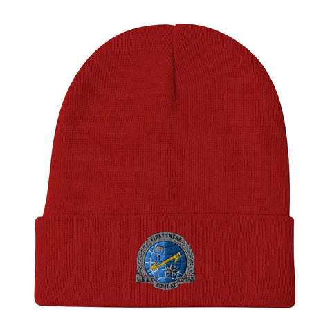 USAF Combat Control Team (CCT) Embroidered Beanie - Red