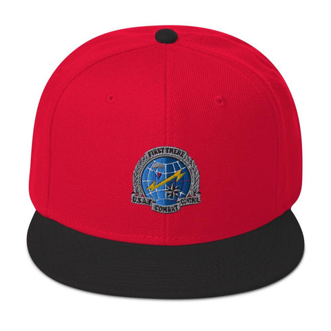 USAF Combat Control Team (CCT) Embroidered Snapback Hat - Black / Red / Red