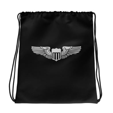 USAF Pilot Wings Drawstring bag