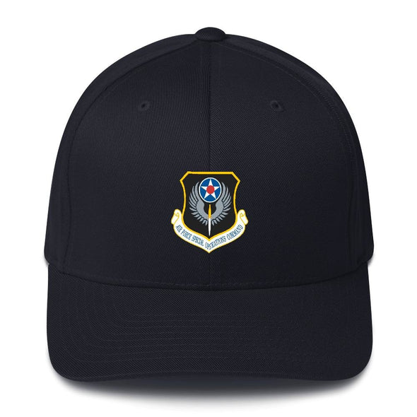 USAF Special Operations Command Embroidered Structured Twill Cap - Dark Navy / S/M