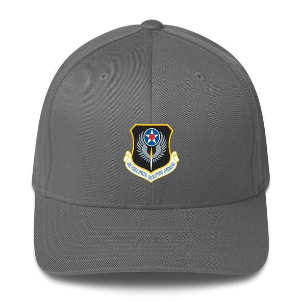 USAF Special Operations Command Embroidered Structured Twill Cap - Grey / S/M