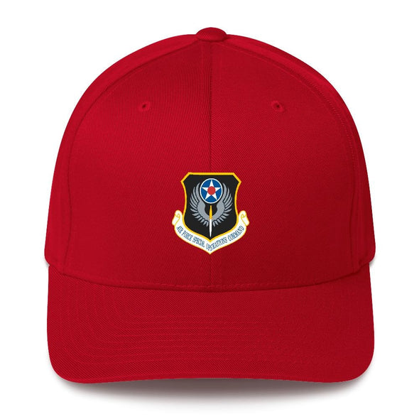USAF Special Operations Command Embroidered Structured Twill Cap - Red / S/M