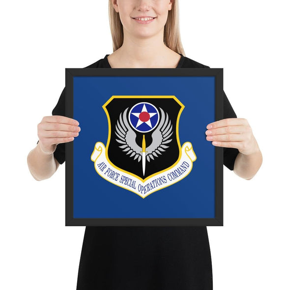 opszillastore,USAF Special Operations Command Framed poster,