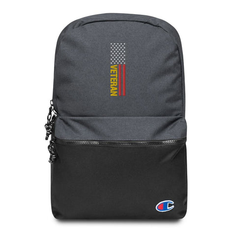 Veteran Embroidered Champion Backpack