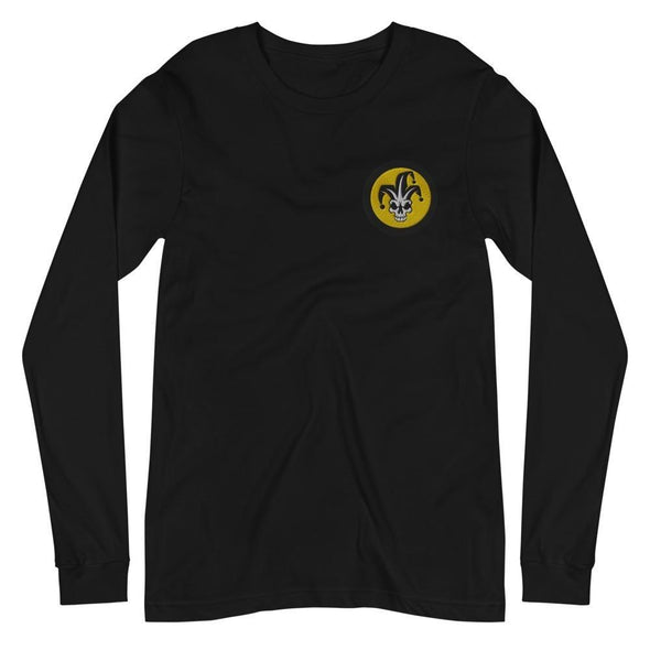 VFA-103 Jesters Embroidered Unisex Long Sleeve Tee - Black / XS