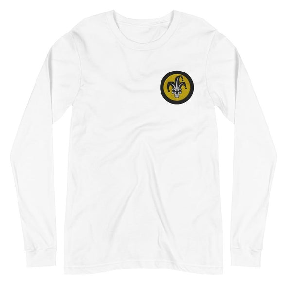 VFA-103 Jesters Embroidered Unisex Long Sleeve Tee - White / XS