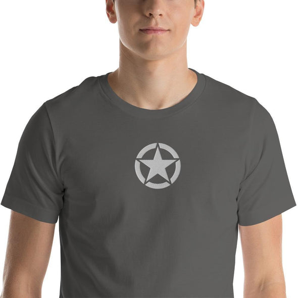 opszillastore,Vintage United States Army Star Embroidered Short-Sleeve Unisex T-Shirt,