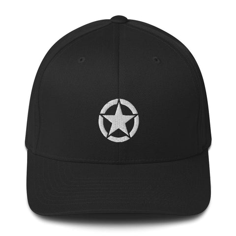 opszillastore,Vintage United States Army Star Embroidered Structured Twill Cap,
