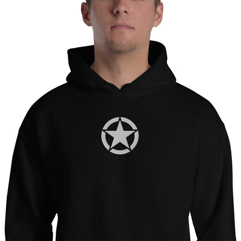 opszillastore,Vintage United States Army Star Embroidered Unisex Hoodie,