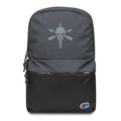 We Defy (Nous Defions) Embroidered Champion Backpack