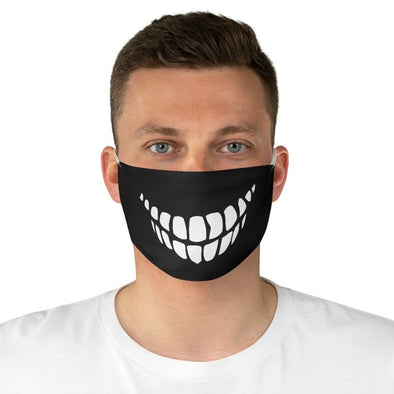 White Teeth Fabric Face Mask - One size - Accessories