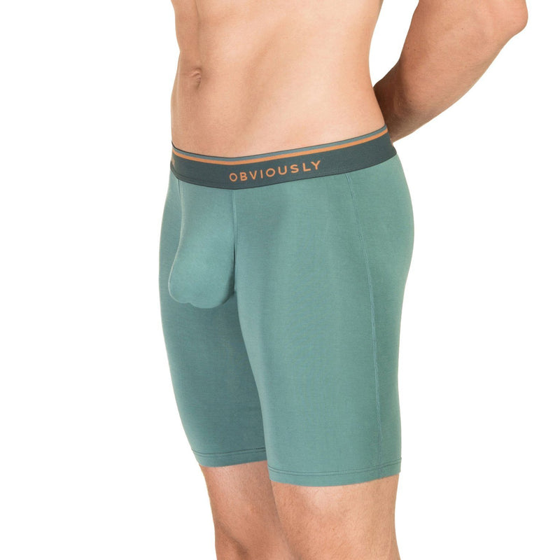 EveryMan - Boxer Brief 9 inch Leg Obviously Apparel Teal Small