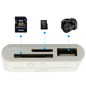 3 in 1 USB Camera Connection Kit Memory Micro Card Reader For iPad iPhone iOS 11