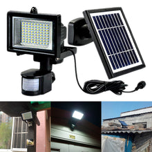 Load image into Gallery viewer, Solar Wall Lights Lamp 72 LED PIR Motion Sensor Solar Garden Lights Outdoor Security Lights With Detachable Solar Pane