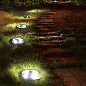 Solar Ground Lights Waterproof 5 LED Landscape Path Light Walkway Lamp for Home Garden Yard Driveway Lawn